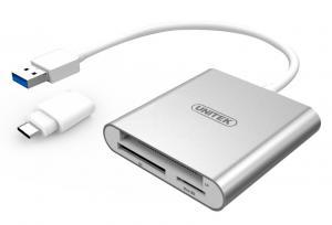 Czytnik kart pamieci USB 3.0 + USB TYP-C; Y-9313D