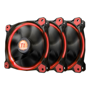 Riing 12 LED Red 3 Pack (3x120mm, LNC, 1500 RPM) Retail/Box