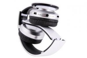 Stereofoniczne słuchawki z mikrofonem CRISTAL WHITE