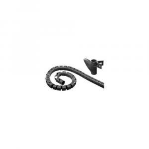 Elastyczna osłona na kable 2,5m 25mm średnicy, czarna