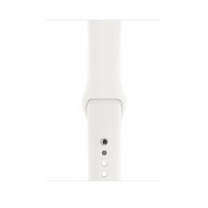 Zegarek Series 3 GPS, 42mm koperta z aluminium w kolorze srebrnym z paskiem sportowym w kolorze białym