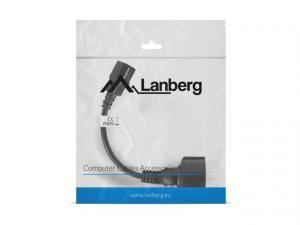Przedłużacz kabla zasilającego IEC 320 C14 - Schuko 20cm czarny
