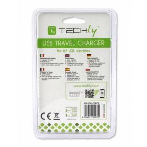 Ładowarka sieciowa slim USB 5V 2.1A czarna