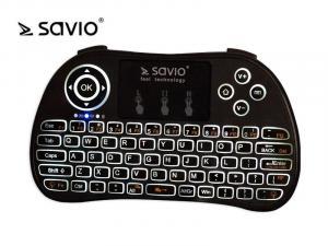 Klawiatura bezprzewodowa podświetlana SAVIO KW-02 Android TV Box, Smart TV, PS3, XBOX360, PC