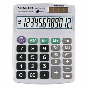 Kalkulator biurkowy SEC 367/12,12 cyfrowy wyświetlacz, podwójne zasilanie