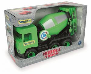 Betoniarka zielona Middle Truck w kartonie