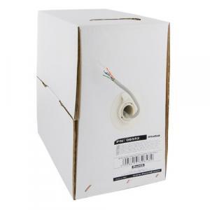 Kabel instalacyjny UTP | 4x2 | kat. 5e | drut | 100m | CU | szary