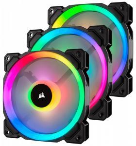 Fan LL120 RGB LED PWM 3 Fun Pack Dual Light Loop RGB LED PWN Fan - 3 Fan Pack with Lighting Node PRO