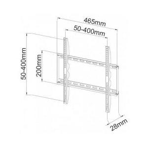 Uchwyt ścienny LCD/LED 23-55cali slim, 45kg, czarny