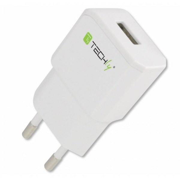 Ładowarka sieciowa slim USB 5V 2.1A biała