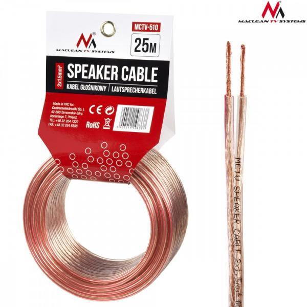 Kabel głośnikowy 25m MCTV-510 2x1.5mm2