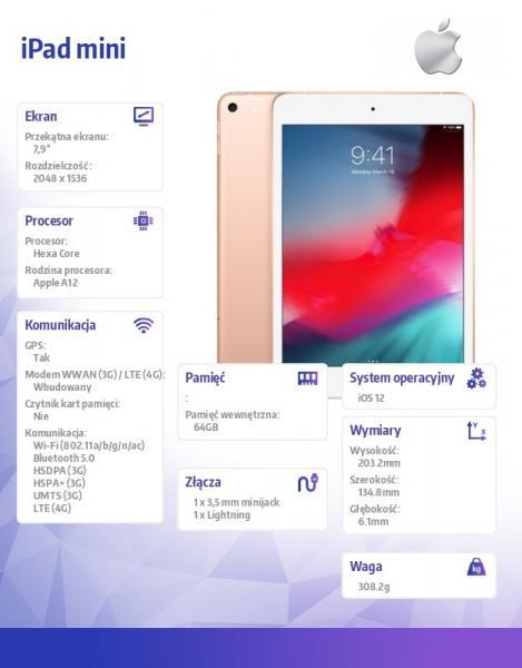 iPad mini Wi-Fi + Cellular 64GB - Gold