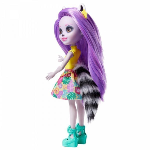 Lalka Enchantimals Larisa Lemur + zwierzątko Ringlet