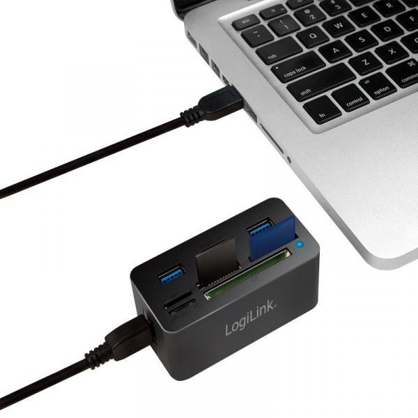 Hub USB 3.0, 3 porty, z czytnikiem kart pamięci