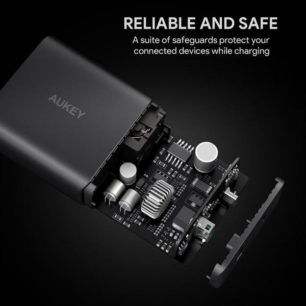 PA-Y10 ultraszybka ładowarka sieciowa 2xUSB Power Delivery 3.0 5.1A 46W