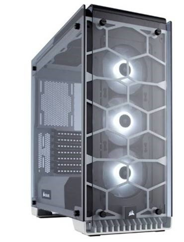 Crystal Series 570X RGB Compact ATX Tempered Glass, Compact ATX Mid-Tower / White