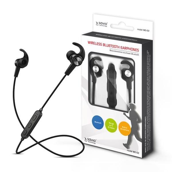 Bezprzewodowe słuchawki Bluetooth v.4.2 z mikrofonem Savio WE-02 Sport