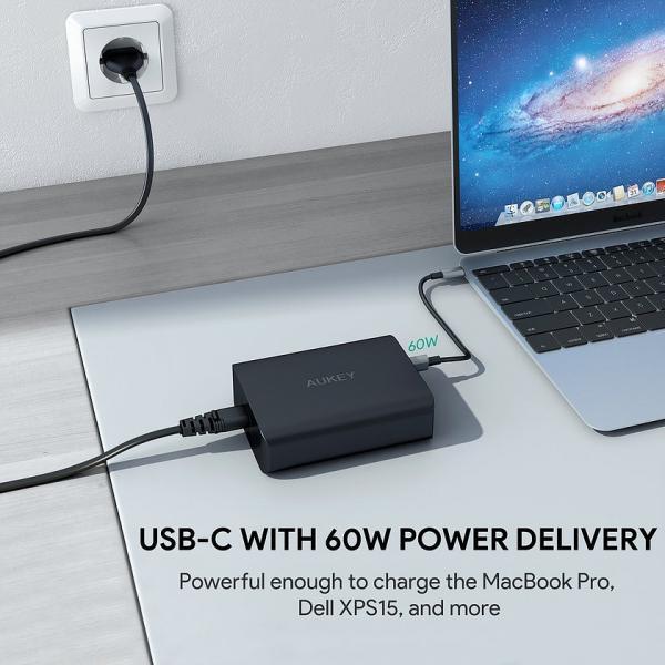 PA-Y12 ultraszybka ładowarka sieciowa 3xUSB Power Delivery 3.0 7.8A 72W