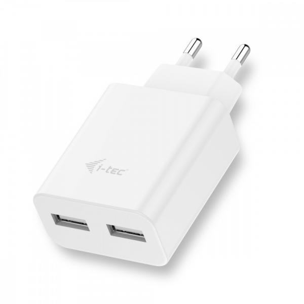 USB Power Charger 2 port 2.4A biały 2x USB Port DC 5V/max 2.4A