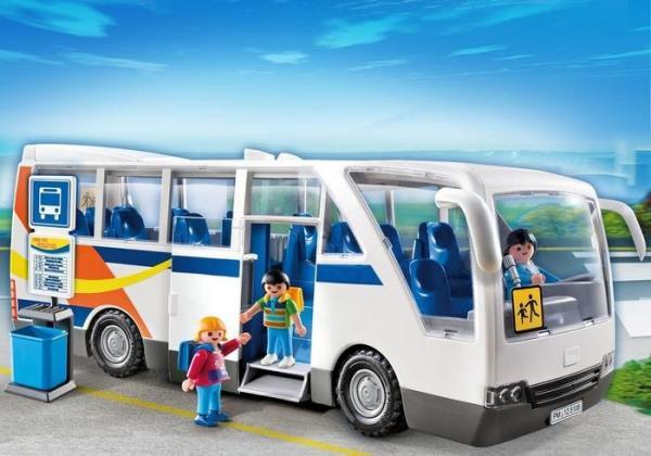 Zestaw figurek Szkolny autobus wycieczkowy