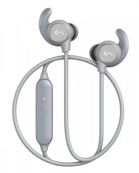 EP-B60 Light Grey słuchawki Bluetooth | wodoodporne IPX6 | automatyczne on/off | BT 5.0+EDR | A2DP | AVRCP | HFP | HSP | AAC | 8h