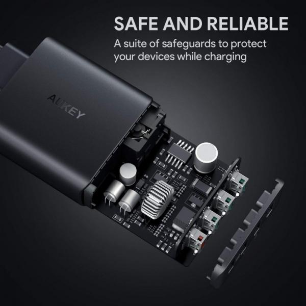 PA-T18 ultraszybka ładowarka sieciowa 4xUSB Quick Charge 3.0 10.2A 42W